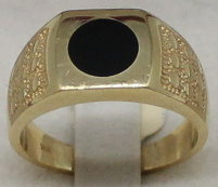 Herrenring in 585er Gold mit Onyx (Art.Nr. HR-003)