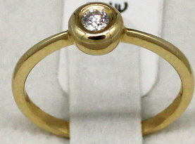Damenring in 585er Gold mit Diamant (Art.Nr. R-050)