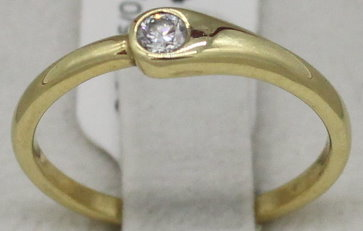 Damenring in 585er Gold mit Diamant (Art.Nr. R-072)